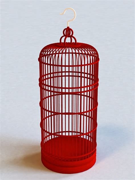 tall decorative bird cage 3d model 3ds max files free