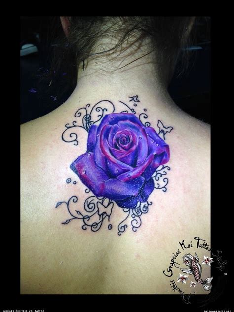 rose tattoo coverups purple cover up roses tattoos