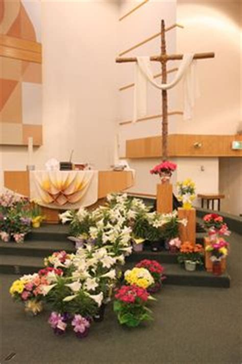 easter sunday service decorations church decorations for sanctuary frank warburton the