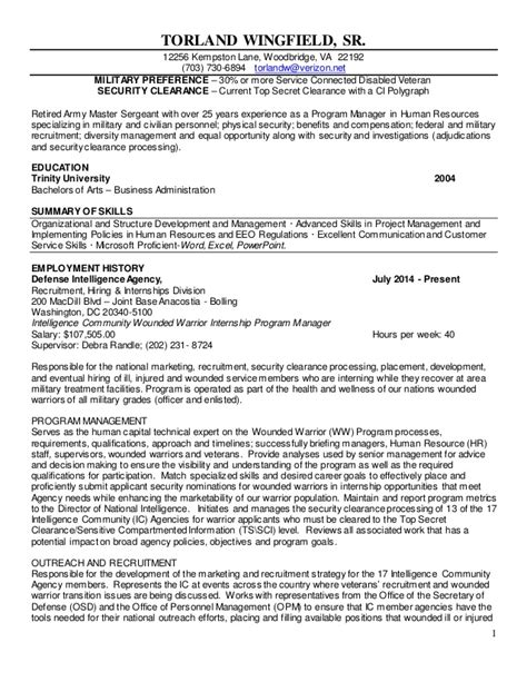 Best Veteran Resume by Resume And Military Veteran