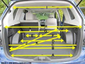 Ford Escape Trunk Dimensions 2013 Ford Escape Cargo Dimensions 2014 Subaru Forester