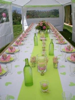 theme rose et vert d 233 coration de table th 232 me printemps