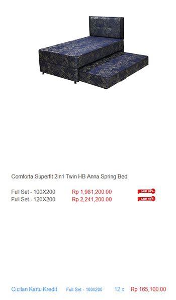 Bed Comforta Di Jogja kasur comforta harga bed termurah di indonesia