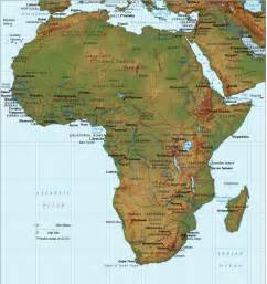 Topographical Map Of Africa by Africa Relief Map Africa Topographical Map Pictures To Pin