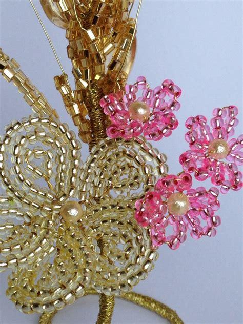 perline fiori spiga in perline bomboniera fiori di perline beaded
