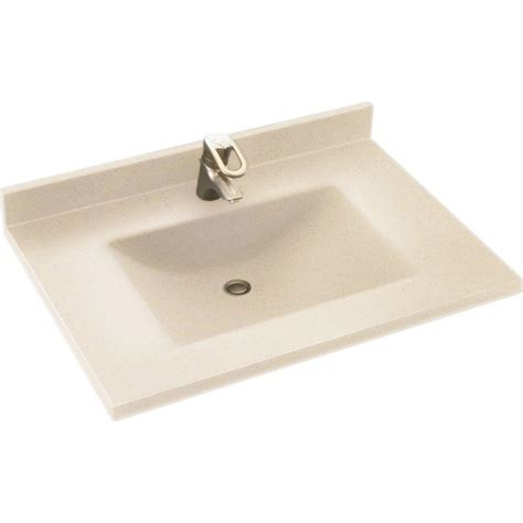 Solid Surface Vanity Top With Sink by Swan Contour 31 In W X 22 In D Solid Surface Vanity Top