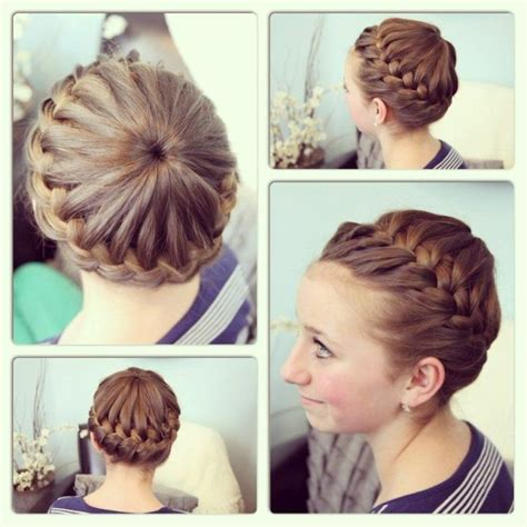 how to wear short hair for gymnastic meet gymnastics hairstyles for long hair for the diva