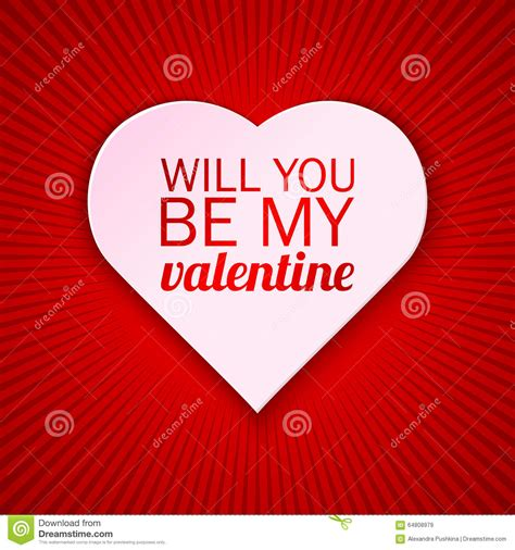 will you be my text s day card on a bright background with will