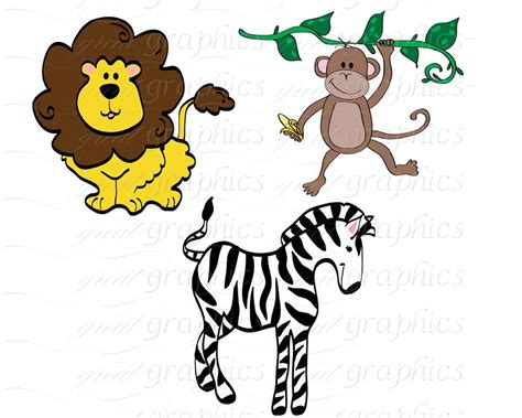 jungle animals clipart baby jungle animals clipart clipart panda free clipart