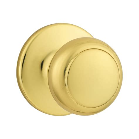 shop kwikset cove polished brass dummy door knob at lowes