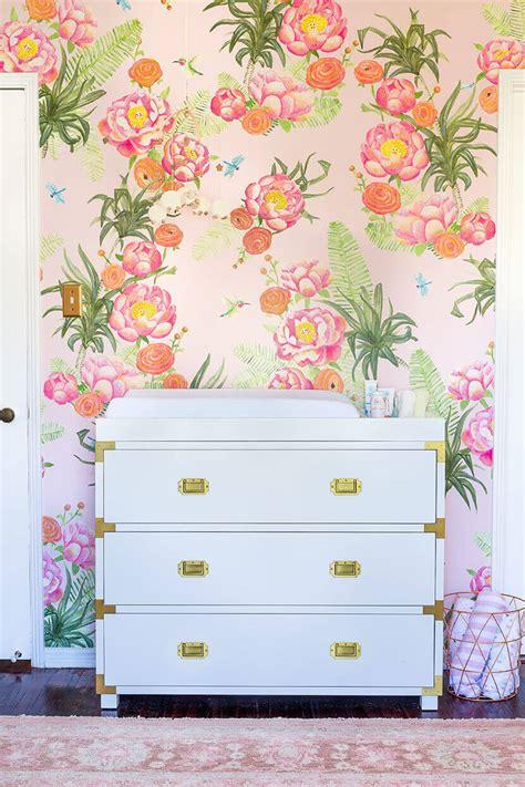 Emily Henderson Nursery a floral glam nursery reveal emily henderson