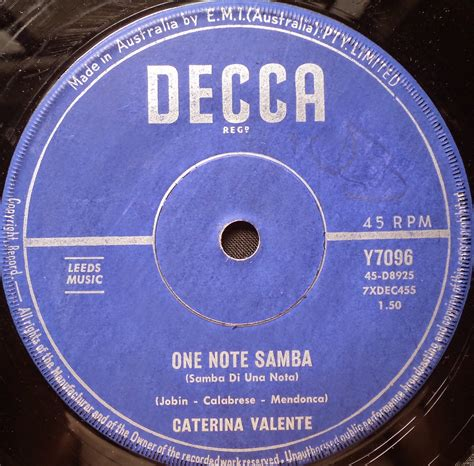 caterina valente singing one note samba foreign acts visit brazil 1957 to 1968 caterina valente