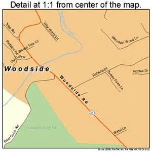 woodside california map 0686440