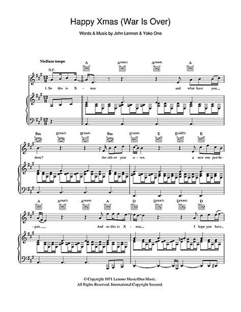 strumming pattern happy xmas war over happy xmas war is over partituras por john lennon piano