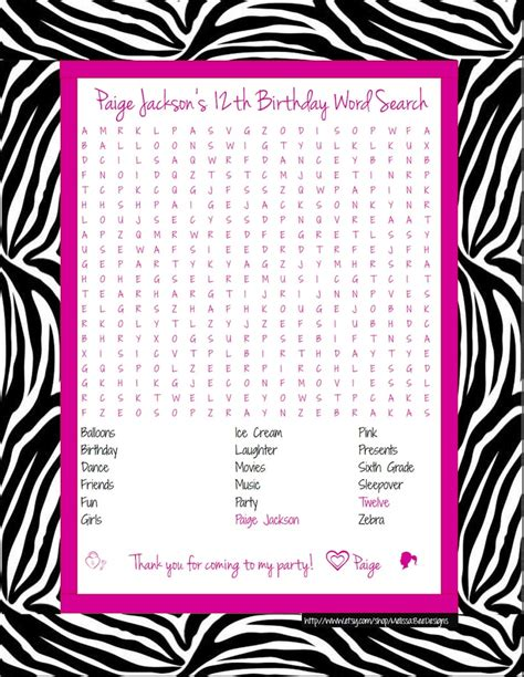 Search For By Birthday Zebra Print With Pink Birthday