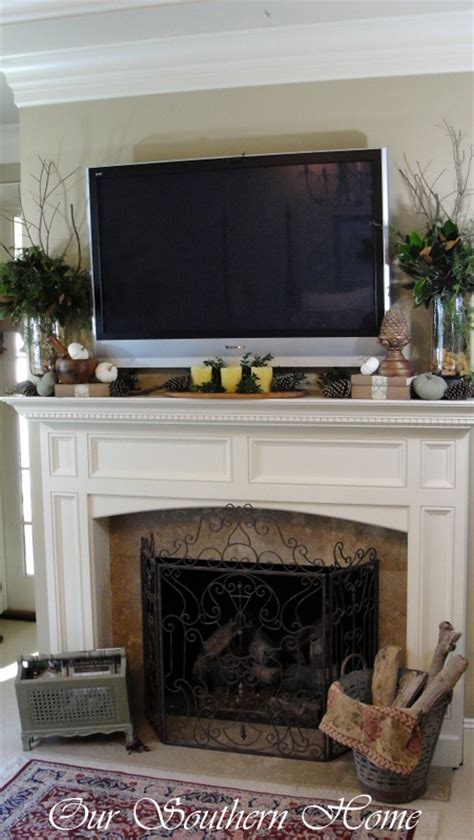 Fireplace Mantel Ideas With Tv by How Would You Decorate This Mantel