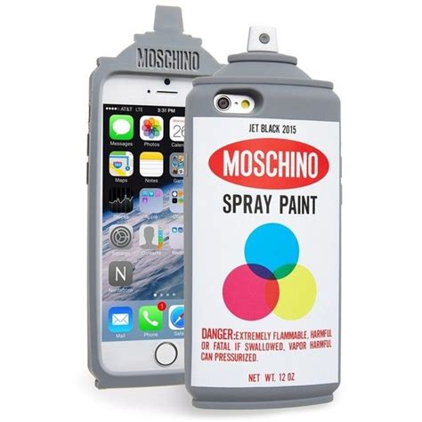 Moschino Spray Paint moschino spray paint can iphone 6 115 liked on