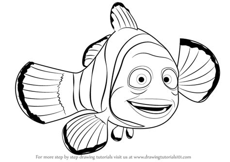 finding nemo coloring pages marlin step by step how to draw marlin from finding nemo