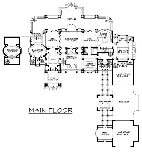 Colonial Luxury House Plans by Floor Plan Of Colonial Luxury House Plan 87644