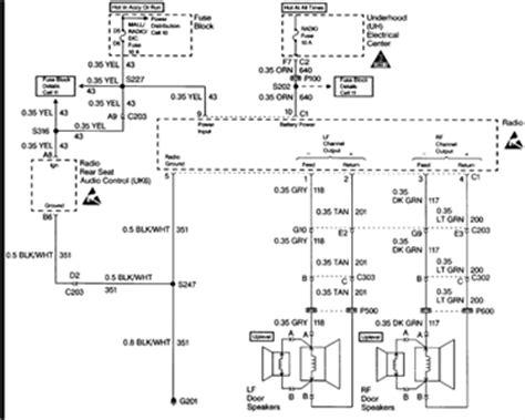 wiring diagram   trailblazer radio wiring diagram