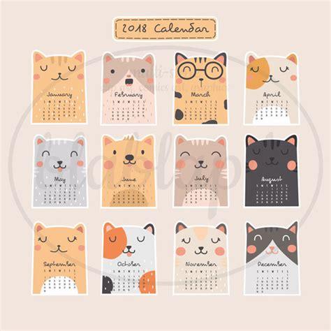 Calendar 2018 Printouts 2018 Printable Calendars Kawaii
