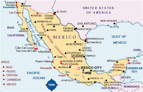 east coast of mexico map vacation ideas map of mexico vacation destinations