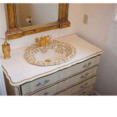 painted bathroom sinks florentine scalloped hand painted sink