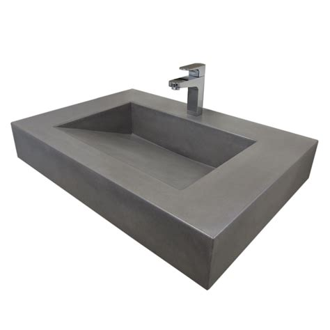 Floating Sinks by Trueform 30 Quot Ada Floating Concrete Sink Designed For A