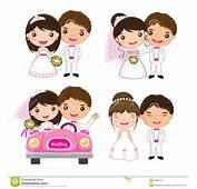 Cartoon Wedding Set Stock Vector  Image 42332315