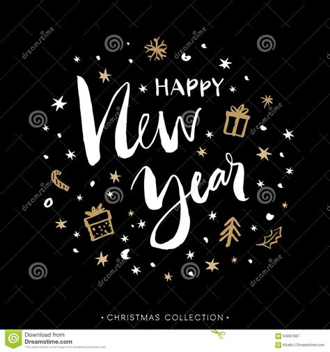 new year calligraphy vector free happy new year greeting card with calligraphy