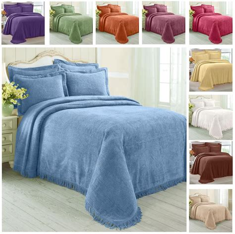 chenille comforters king greenhome123 100 cotton chenille bedspread select color