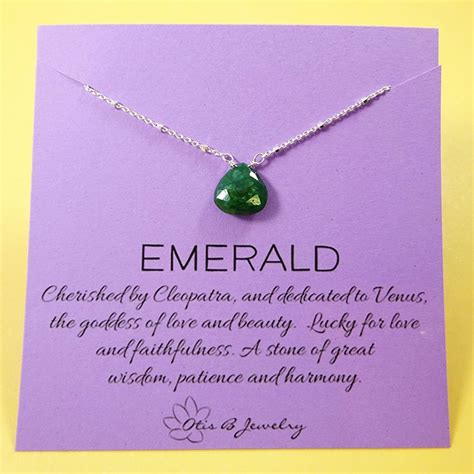otis b jewelry emerald meaning necklace