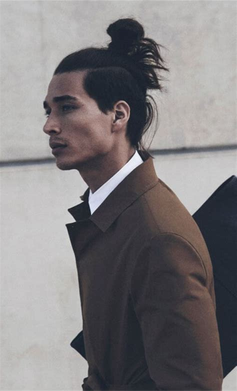 top knot hairstyle men the undercut bun aka the top knot