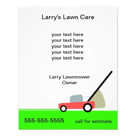 lawn care services full color flyer zazzle