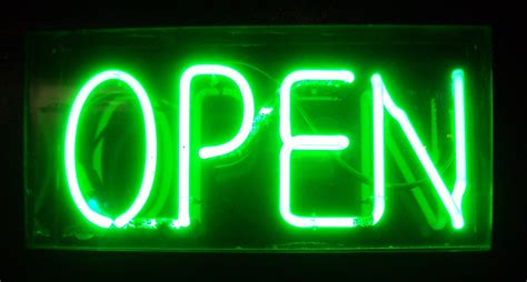 Lighted Open Sign by Open Signs And Business Hours Hypeyourbusiness