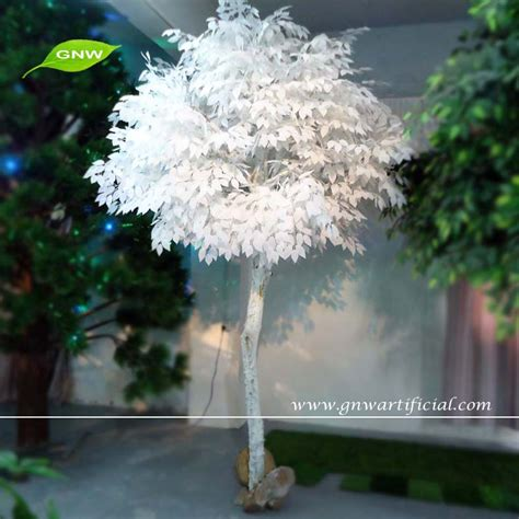 artificial birch trees with lights gnw artificial tree indoor decorations white birch tree
