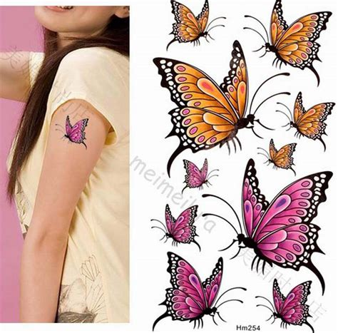 butterfly temporary tattoos color animal butterfly wst10174