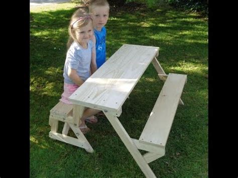kids    folding picnic table  bench seat youtube