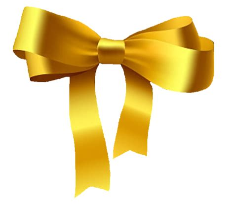 gold bow gold bow clip at clker vector clip