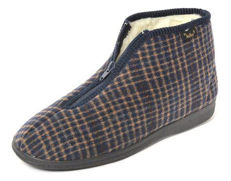 zip slippers dr keller mens zip up slippers ebay