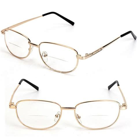 fashion bifocal lens rimmed s reading glasses gold