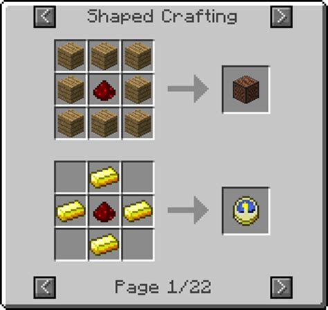 Minecraft Redstone L Crafting Recipe by Not Enough Items Mod 1 10 2 1 9 4 1 7 10 Minecraft Mods