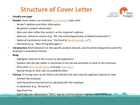 structure of a cover letter cover letter structure letter of application format cover