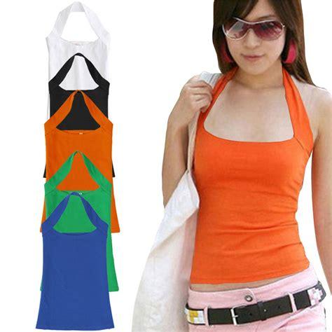 Cotton Halter Vest by Discount Summer Cotton Halter Neck Sleeveless Vest