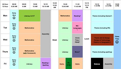 class timetable template primary editable class timetable template edchat 174