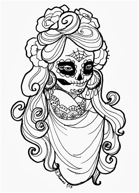 day of the dead catrina coloring pages la calavera catrina coloring page coloring pages