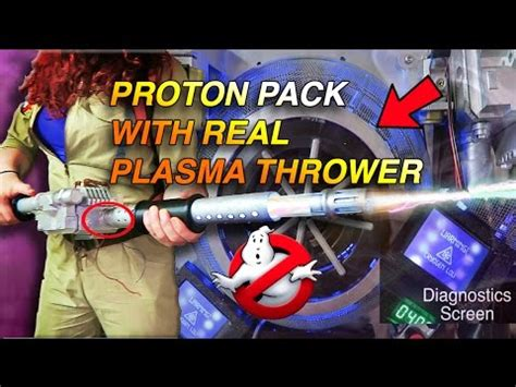 Real Proton Pack by Ghostbusters Proton Pack Real Plasma Thrower Installed