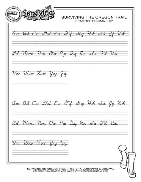 make your own printable cursive handwriting worksheets
