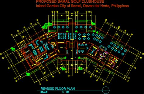 proposed samal golf clubhouse dwg block  autocad