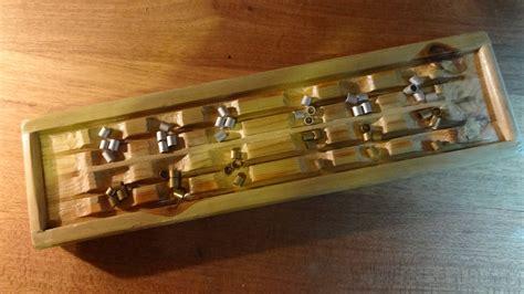 Handmade Mancala Board - handmade recycled mancala board by madeinthemancave on